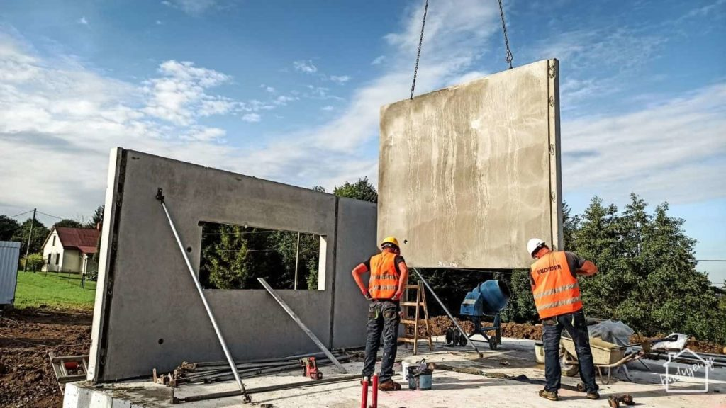 szybki montaż ścian domu