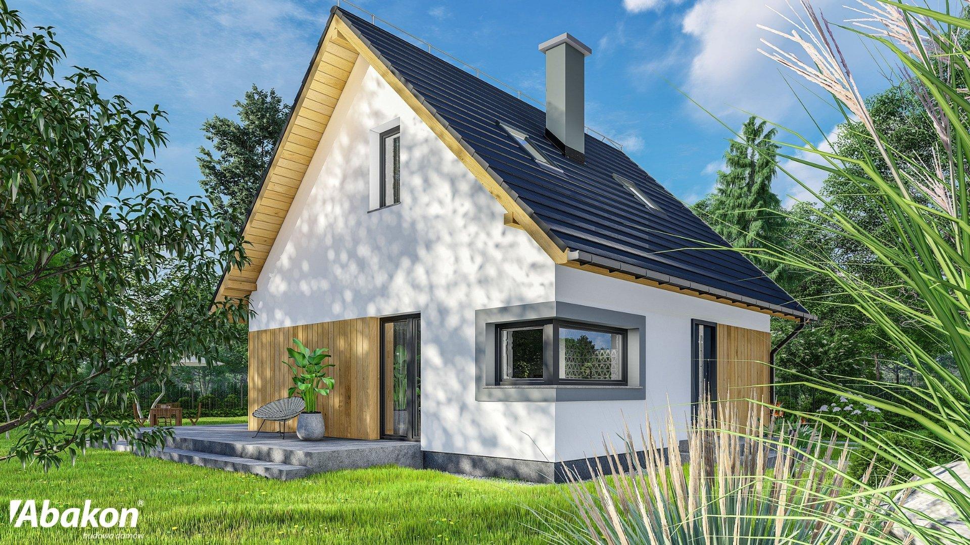 projekty domów z kosztorysem - mały dom z poddaszem Abakon 2019 SE