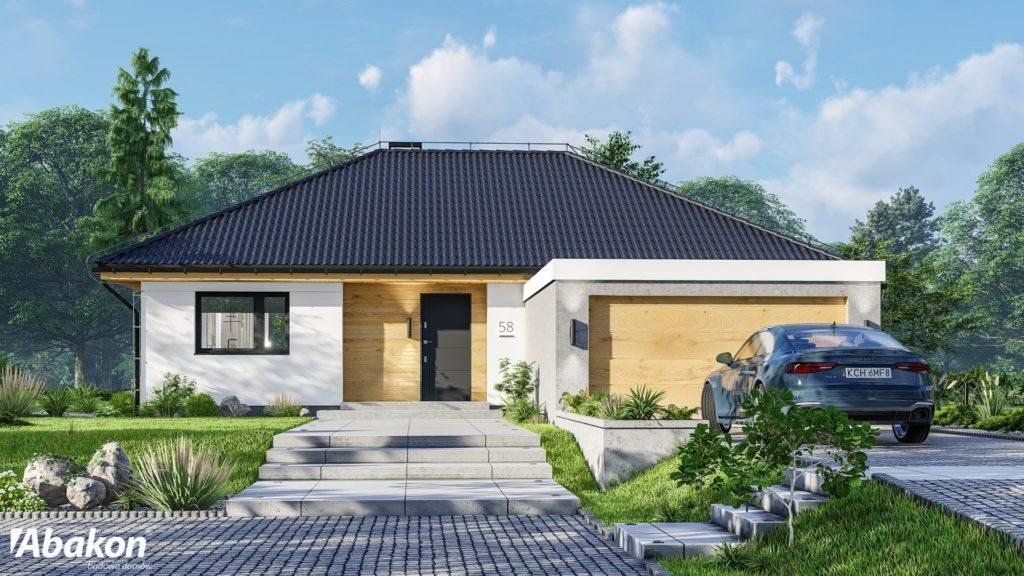 domy wg kosztów budowy - Dom parterowy Abakon Padiglione 4