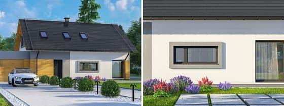 domy z poddaszem mieszkalnym