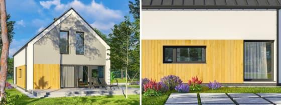 domy z poddaszem mieszkalnym Abakon 2020 - elewacje