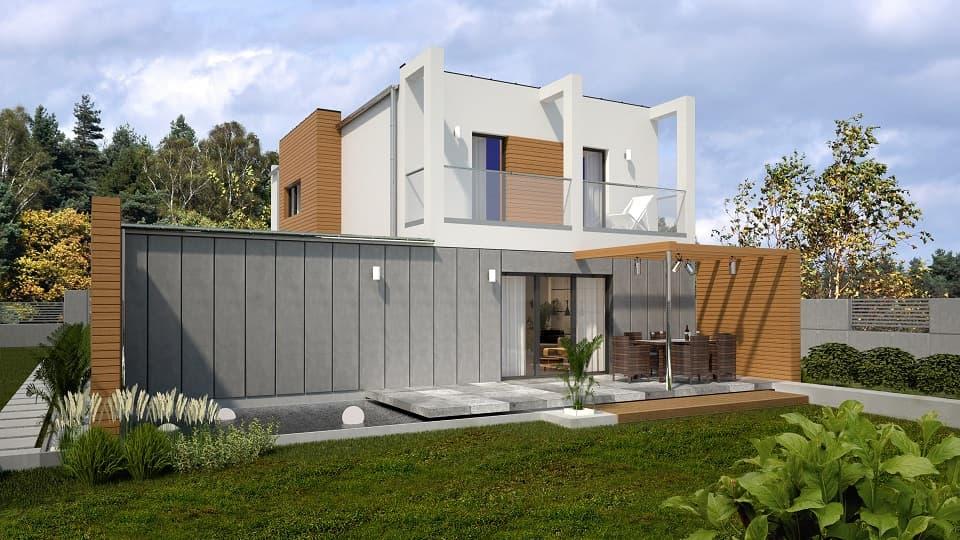 nowoczesne projekty domów - Piatto 4
