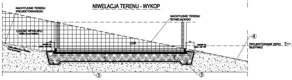 Wykonanie fundamentu płytowego - niwelacja terenu