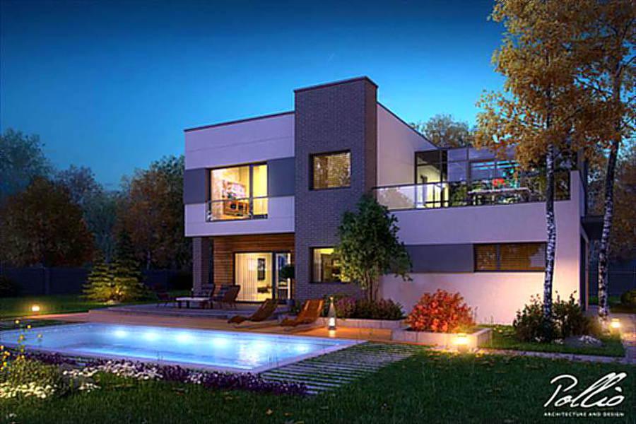 domy nowoczesne - Z500 - futuro