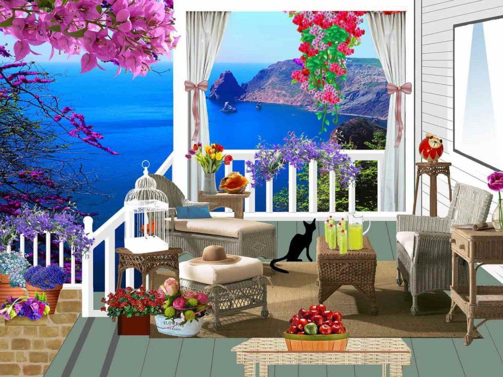 balkon ilustracja