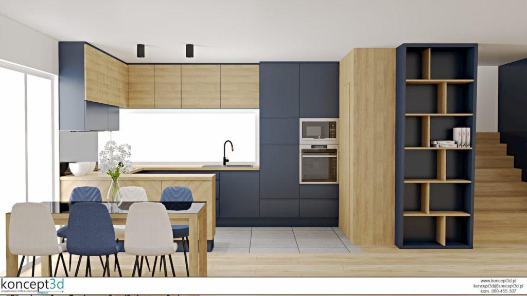 ergonomiczna kuchnia - wizualizacja