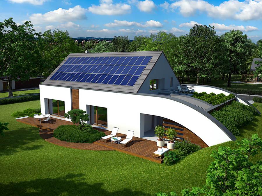 domy czystej energii - panele słoneczne