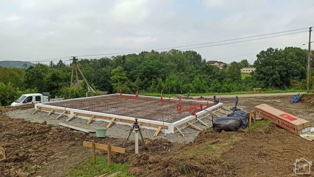 płyta fundamentowa - przed zalaniem betonu