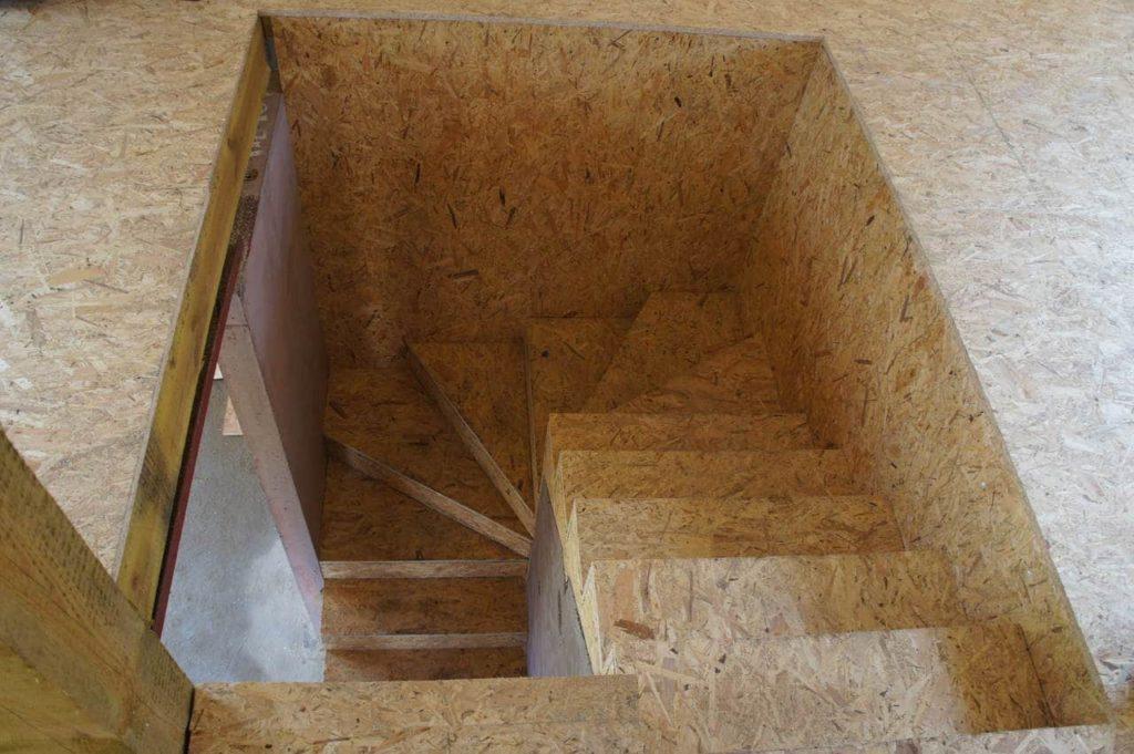 schody - z drewna