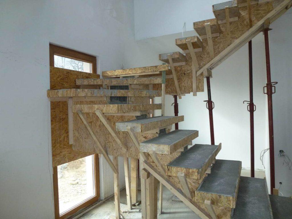 jakie wybrać schody - schody żelbetowe