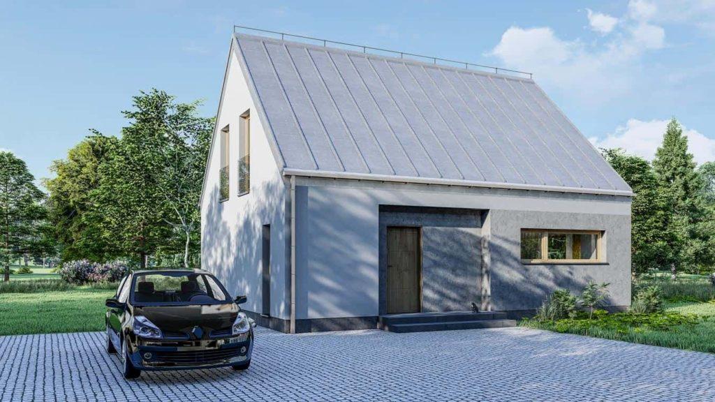 domy z poddaszem mieszkalnym - projekt domu Abakon SZT 135