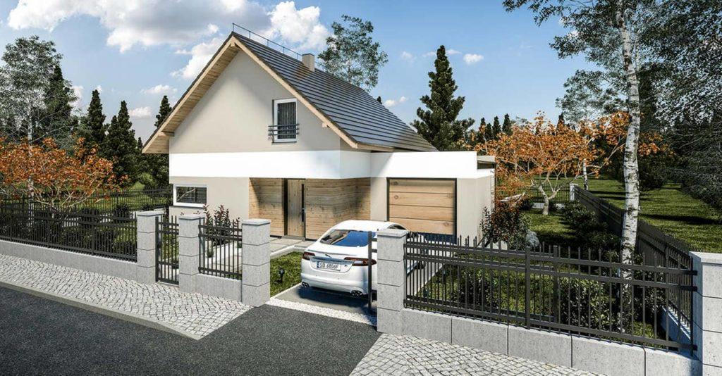 projekt domu Abakon z ogrodem zimowym