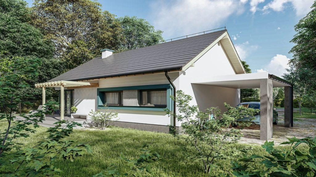 projekty domów z kosztorysem - dom parterowy jednorodzinny