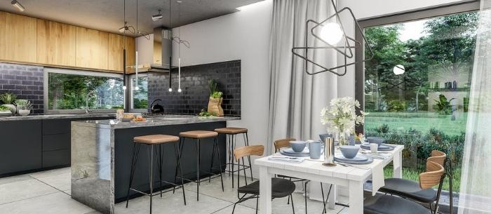 projekt domu Abakon 2011SE_kuchnia i jadalnia